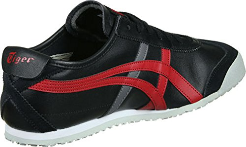 Onitsuka Tiger Mexico 66, Scarpe da Ginnastica Unisex – Adulto Nero (Black/True Red)