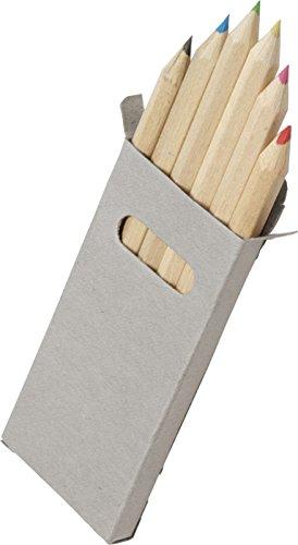 sin4sey Buntstifte-Set Klein Mitgebsel Hochzeit Restaurant Kinder Verpackung Grau (10 Packungen)