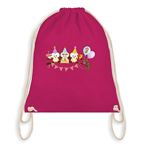 Birthday Child - 3rd Birthday Sweet Party Owls - Borsa Da Ginnastica I Gym Bag Fucsia