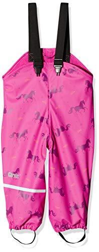 CareTec Kinder wasserdichte Regenlatzhose mit Fleecefutter (verschiedene Farben), (Real pink 546), (Herstellergröße:98)