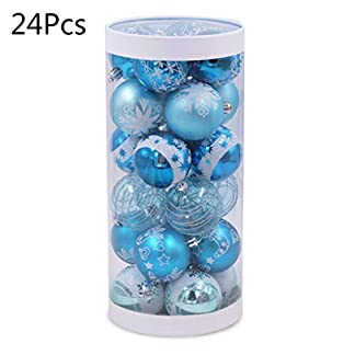 YO-GLCKLICHE-Blaue-Kugel-Dekoration-Chirstmas-Geschenk-Plastik
