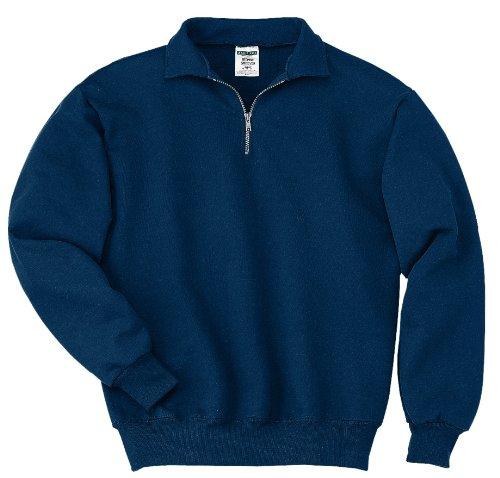 Jerzees-baumwolle-pullover (Jerzees Mens SUPER SWEATS 1/4-Zip Sweatshirt with Cadet Collar)