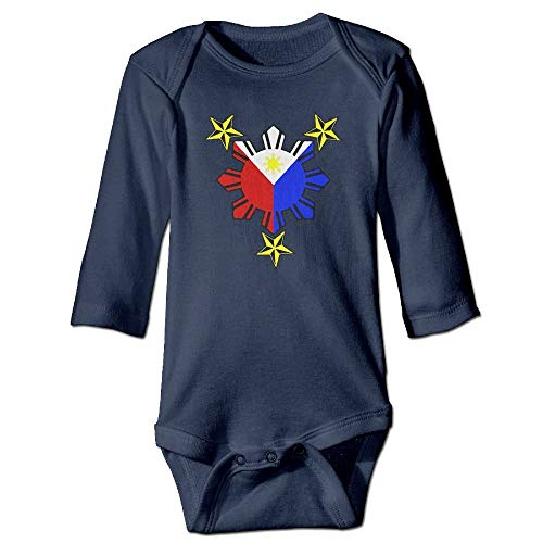 WBinHua T-Shirts für Baby-Jungen,Bertha Filipino Philippine National Flags Baby Unisex Long Sleeve Onesies ()