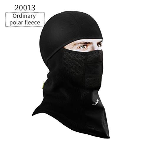 Qianliuk Invierno Ciclismo Cara máscara Tapa térmica Snowboard Escudo Sombrero esquí Moto...