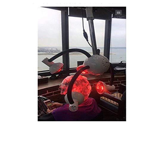 JYSEJ Nagel Staubsauger, 750W hängende Haartrockner 5 Kopf Infrarot-Wärmelampe Salon Styling Farbprozessor Infrarotlicht Friseurausrüstung mit flexiblen Armen (Weiß)