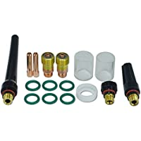 Lente de gas TIG de 1,6 mm 2,4 mm Kit de consumibles