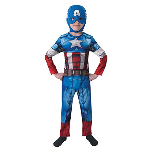 ica - Avengers Assemble - Kinder-Kostüm - Medium - 116cm (Captain Amerika Kinder Kostüm)