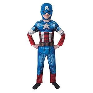 Rubies The Avengers - Disfraz Marvel The Avengers Capitán América para niños, talla S (I-610261S)