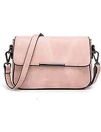4cd2f4592d854 wewo Einfarbig umhängetasche damen kleiner lässig schultertasche mädchen  Modisch handtasche shopper henkeltasche PU leder…