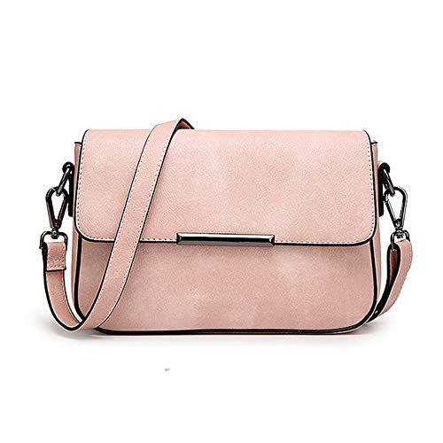 wewo Einfarbig umhängetasche damen kleiner lässig schultertasche mädchen Modisch handtasche shopper henkeltasche PU leder crossbody Paket (Rosa)