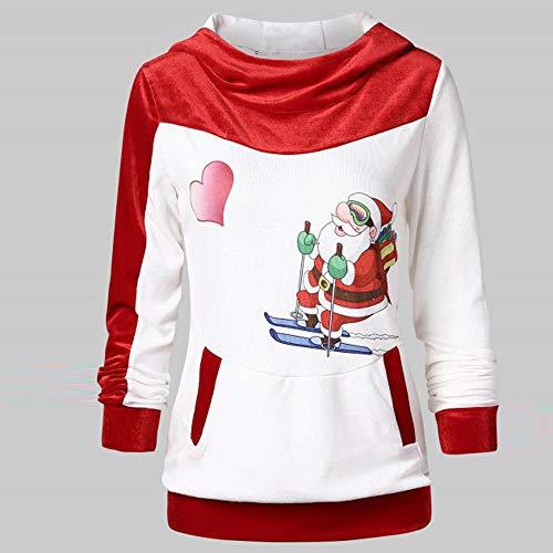 MäDchen Pullover Mit Kapuze Pulloverkleid Elegant Samt Weihnachtsmann Drucken Kapuzenpullover Outwear Winter Warm Hoodie Trenchcoat Mantel Coat Wintermantel Sweatershirt Pullover -