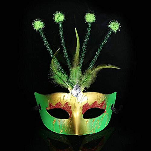 Princess Mädchen Kostüm Dark - QTJKH Horror Maske Venezianische Maskerade Maske Frauen Mädchen Venice Princess Masquerade Half Face Masks PartyDekoration @ E