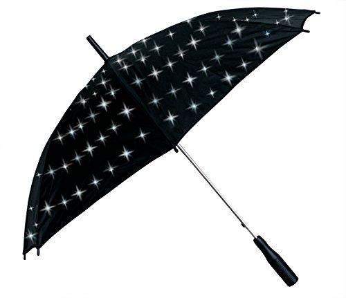 Unbekannt LED Regenschirm mit Sternenlicht - weiß leuchtende LED Lichter. Tolles Weihnachtsgeschenk...