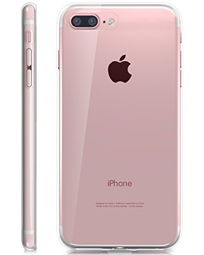 Apple iPhone 8 Plus / 7 Plus coque, Fosmon [DURA-T] Slim Fit flexibles TPU Housse couverture Case Cover pour Apple iPhone 8 Plus / 7 Plus - Rose Clair