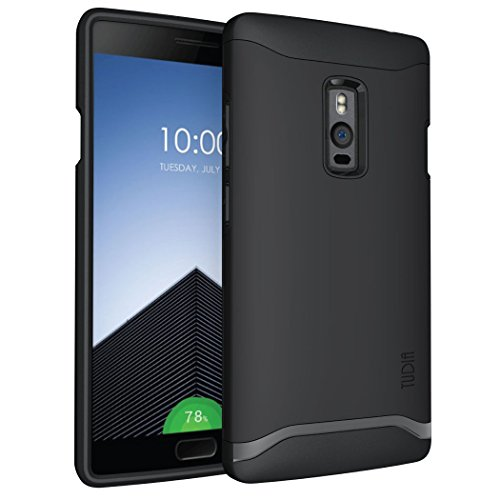 TUDIA Slim-Fit Merge Dual Layer Protective Back Cover for OnePlus 2 (Matte Black, TD-TPU3479)