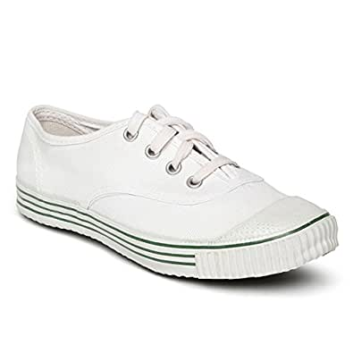 PARAGON Unisex's White Sneakers-4 Kids UK/India (22 EU) (CA0001B)