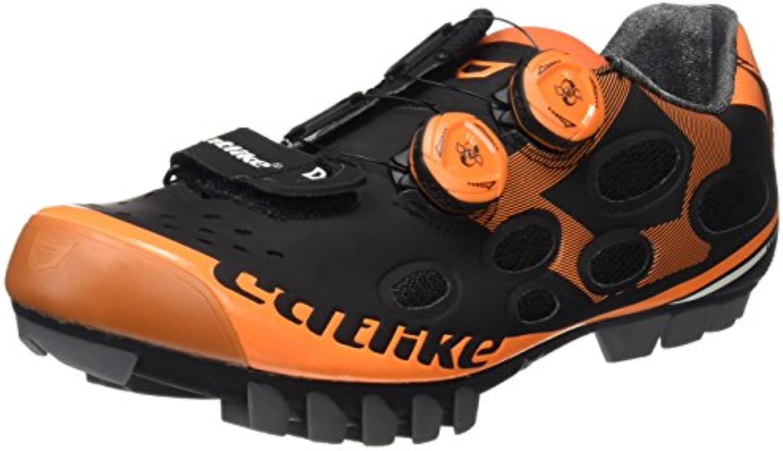 Catlike Whisper MTB 2016, Zapatillas de Ciclismo de Montaña Unisex Adulto, Negro (Black/Orange), 45 EU  -