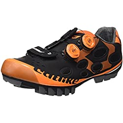 Catlike Whisper MTB 2016, Zapatillas de Ciclismo de Montaña Unisex Adulto, Negro (Black/Orange), 43 EU