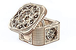 UGEARS UGE 412059 puzle 3D - Puzles 3D (354 Pieza(s), Treasure Box, 14 año(s), 240 - 480 min, Madera contrachapada, 142 mm)