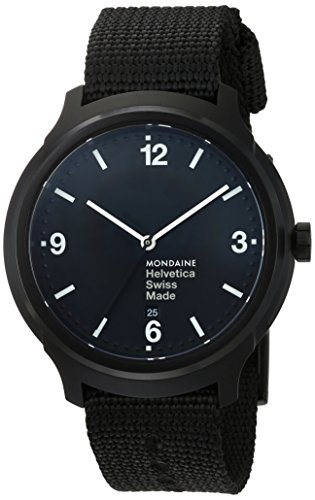 mondaine-mens-quartz-watch-with-black-dial-analogue-display-and-black-nylon-strap-helvetica-no1-bold