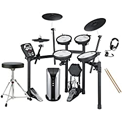 Roland TD-11KV V-Drums & PM-03 Personal Monitor Electronic Drum Kit Pack Includes : Stool, Sticks, Headphones, Bass Drum Pedal