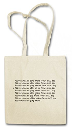 (Urban Backwoods Dull Boy Hipster Bag ? Stephen All Work and No Play Makes Shining Jack a Quote Zitat Note Book Sentence Torrance Nicholson Horror Movie King)