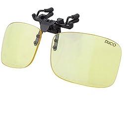 DUCO Clip Randlose Ergonomische Computer Brille mit Bernsteinfarbe Gläsern für Kurzsichtigkeit 8012 (Amber8012)