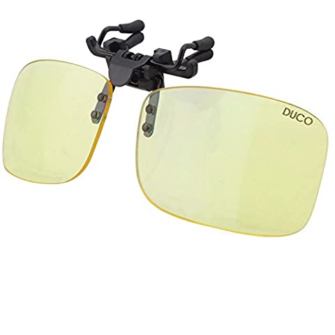 Lunettes pour jeux vidéo Duco - Lunettes pour ordinateur - à porter par dessus des lunettes de vue - excellente protection contre la lumière bleue des écrans PC & TV 8012