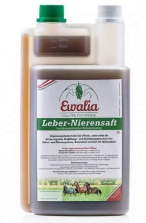 Ewalia Leber-Nierensaft 1 Liter Flasche 100{b9b70ed0bc4c3b0e995416bf25e5b487a13edd7f1dd5590590144a46d7819190} Reine Kräuterbasis