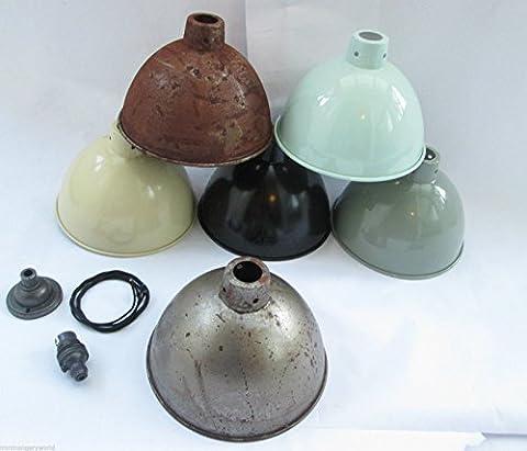 IRONMONGERY WORLD® Dome lampshade industrial Vintage Retro Old Style pendant light Shade - 8