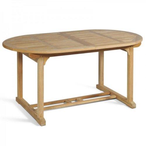 Vamundo Table de Jardin en Teck Massif 160-210 cm