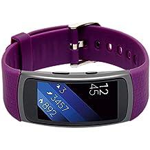 Woodln Silicón Repuesto Correa Reloj Band para Samsung Gear Fit 2 SM-R360 Actividad Deporte Inteligente Accesorios Correas de Reloj (Purple)
