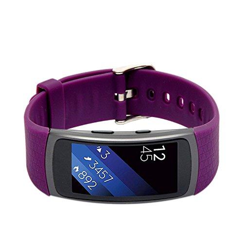 Preisvergleich Produktbild Woodln Gear Fit2 Smart Watch Zubehör Uhrenarmbänder Replacement Strap Band Uhrenarmband Erstatzband Armband für Samsung Gear Fit 2 R360 Fitness Smartwatch (Purple)