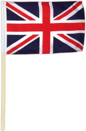 itannien - Union Jack 30 x 45 cm mit Stab ()