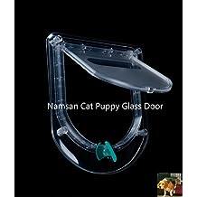 Namsan mascota puerta de cristal, cristal gato/perro, Apto para puerta de cristal o de grosor para puerta