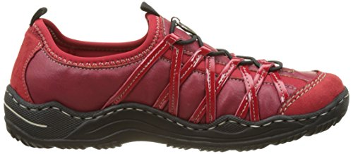 Rieker L0559-33, Basses Femme Rouge (Rouge Fire/Rosso/Rosso/Rosso)