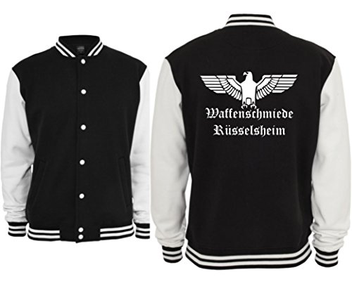 jacke-waffenschmiede-russelsheim-college-jacket-baseball-opel-ascona-manta-kadett-rekord-admiral-kad