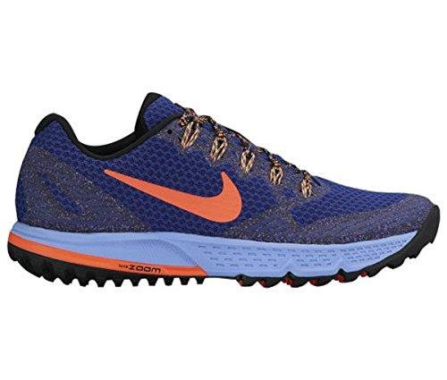 Nike Air Zoom Wildhorse 3, Scarpe da Trail Running Donna Blu (Dp Ryl Blue / Hypr Orng-Chlk Bl)