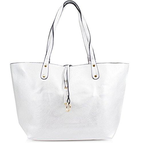HB Style , Damen Tote-Tasche silber