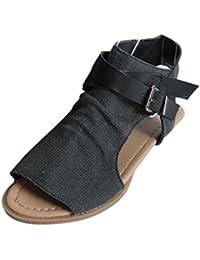 94bc95316 LuckyGirls Sandalias Planas Mujer Chancleta Verano Boca de Pescado Diseñar  Moda Cómodos Playa Casual Zapatos Chanclas Zapatillas…