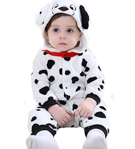 Doladola Babyspielanzug Tier Dalmatiner Onesies (Dalmatiner, 90 (Alter 1-1,5 Jahre))