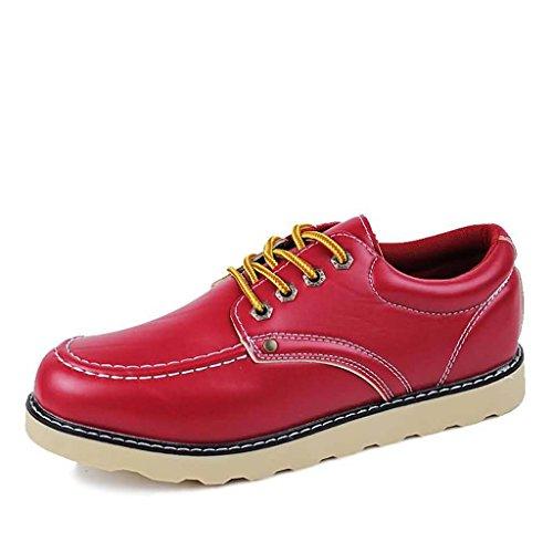ZXCV Scarpe all'aperto Scarpe da uomo all'aperto di puro colore degli uomini piatti Rosso