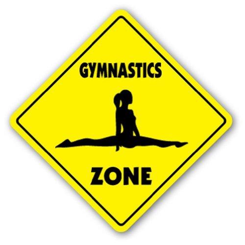"""SignMission Gymnastik-Schild Zone Xing, für drinnen und draußen, 35,6 cm hoch, Sport Gym Award Trophäe Team Funny Gag Gym 12\"""" Tall X 12\"""" Wide Gymnastics"""