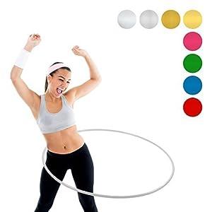 NiroSport Hula Hoop Fitnessreifen für Kinder und Erwachsene, bruchsicheres Aluminium, 90 cm Durchmesser, 360 Gewicht
