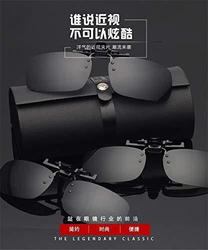 Gaodaweian Sonnenbrillen-Clips Männer und Frauen, die nachtsichtbrille polarisierte Sonnenbrille Fahren, dunkelgrün, groß (Color : Gray)