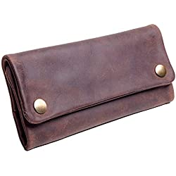 Pochette de tabac, pochette en cuir veritable, sac à main, sac de tabac, sac de fumage, Hunter, sac en cuir de cuir véritable Buffalo Unisex