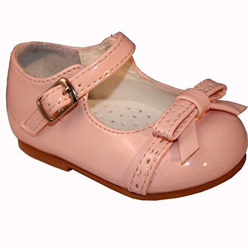 Mädchen Baby & Kleinkind Schleife Walking Schuhe mit Cute Bow und Sicherheit Gurt Rose