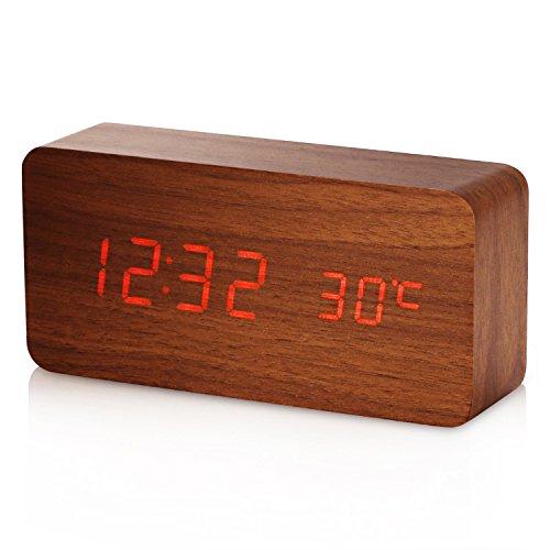 Reloj Digital YOKKAO, Reloj Despertador con 3 Alarmas Programables y...