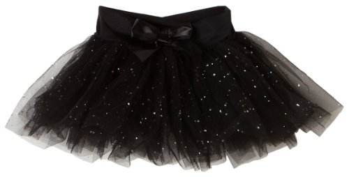 Capezio Little Girls Tutu Skirt W/Glitter Tulle (N9815C) -Black ()