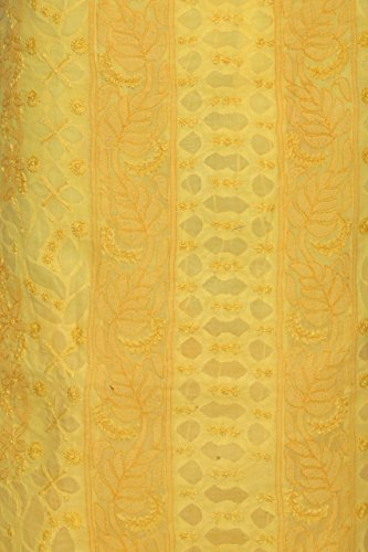 ADA-YELLOW-Handcrafted-Lucknow-Chikan-Cotton-Hand-Embroidered-Unstitched-Kurta-Suit-A151180